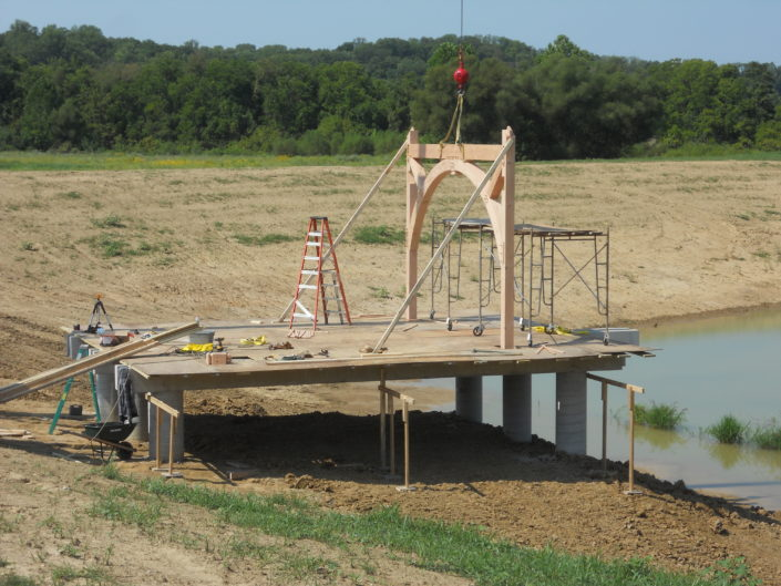 Timberframe Construction Pier