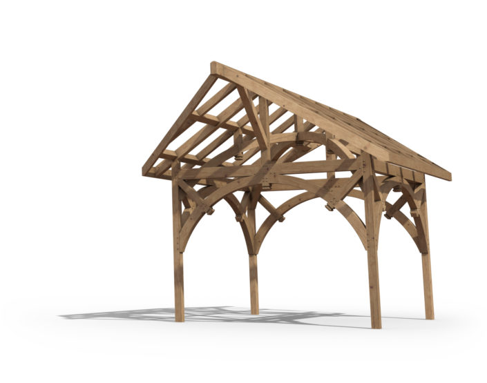 Digital timberframe rendering