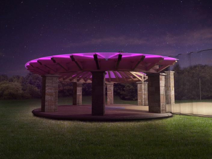 Rendering Timberframe LED Night