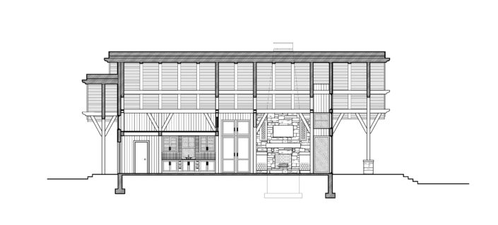 Architecture Drawing Timberframe