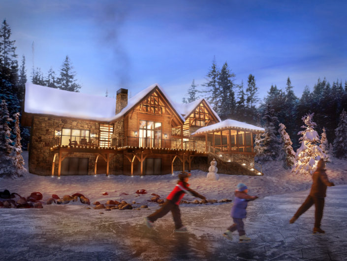 Timberframe Rendering Tabberson Architects