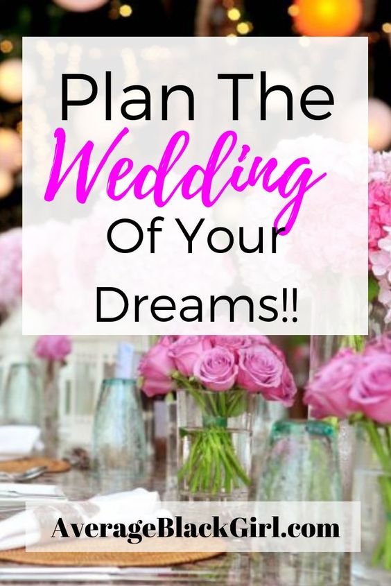 plan the wedding of your dreams