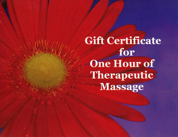 Massage Gift Certificate Front