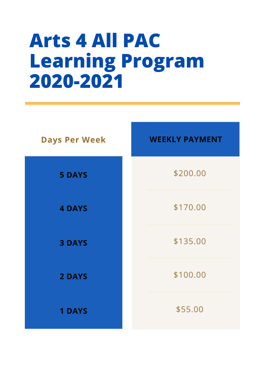 PAC Learning Program tuition
