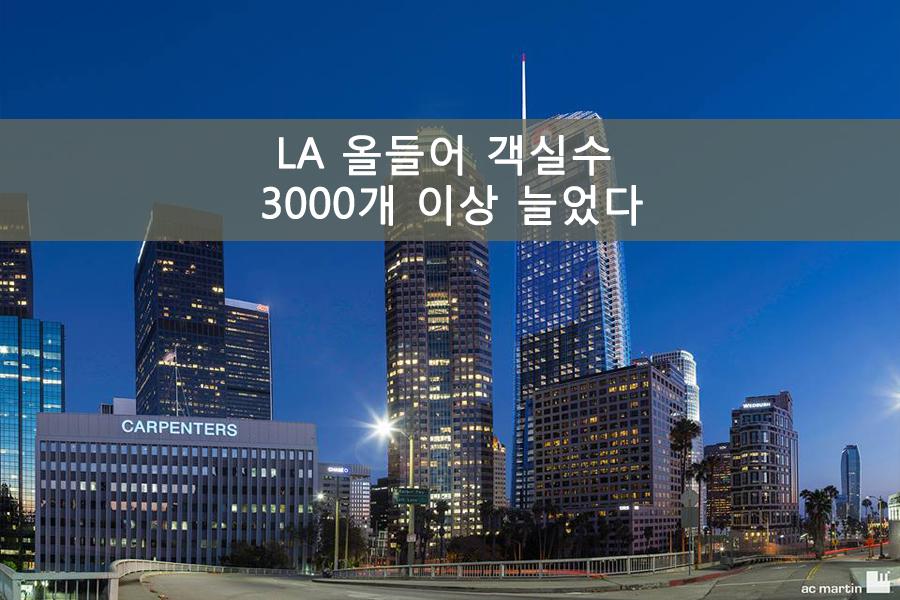 LA 올들어 객실수 3000개 이상 늘었다