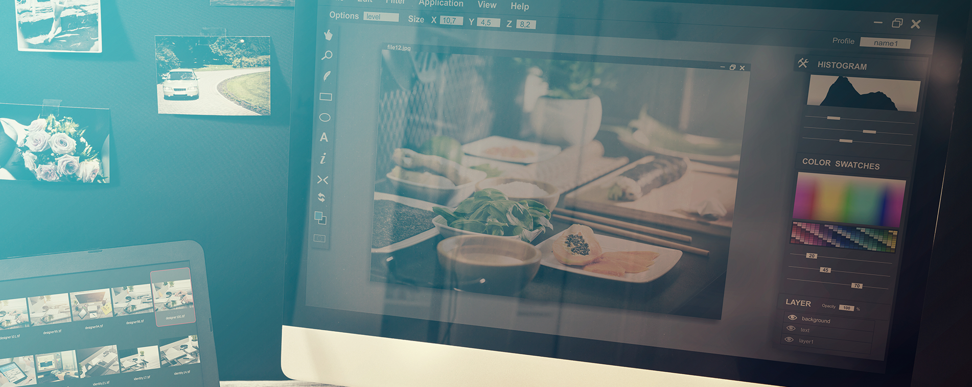 Use Stock Images and Resource Websites for more efficient design
