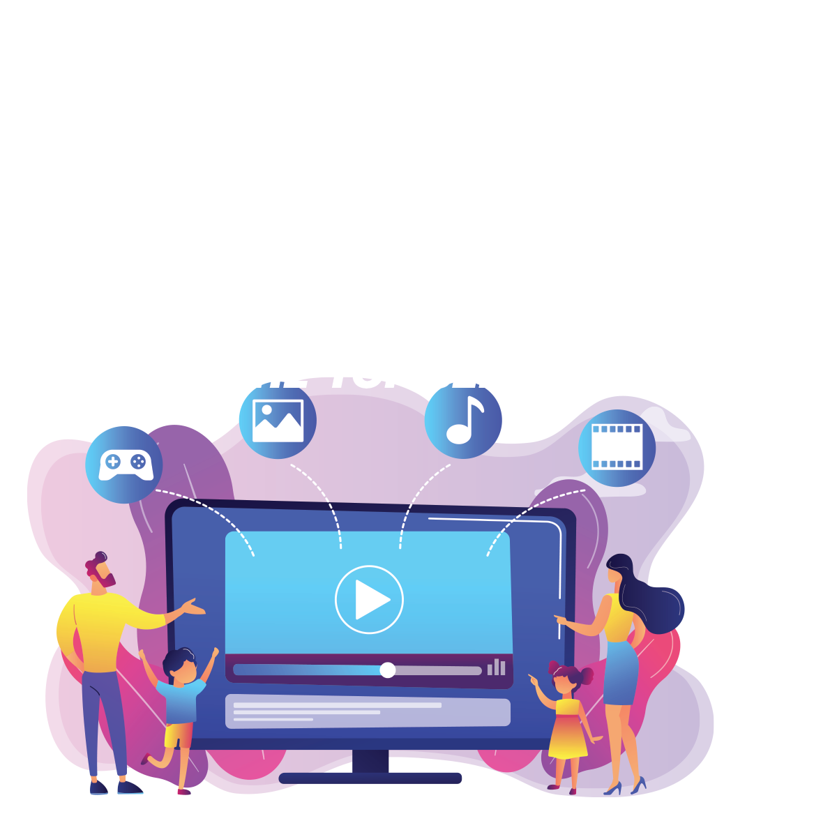 200 million estimated subscribers to over the top services by 2023