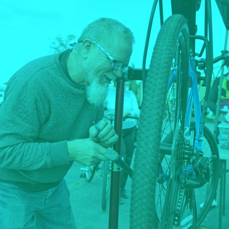 Festival SAG and on-site bike repair
