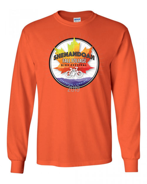 Fall Foliage Bike Festival 2019 long sleeve T-shirt