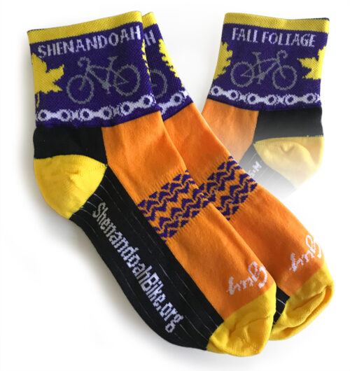 Fall Foliage Bike Socks