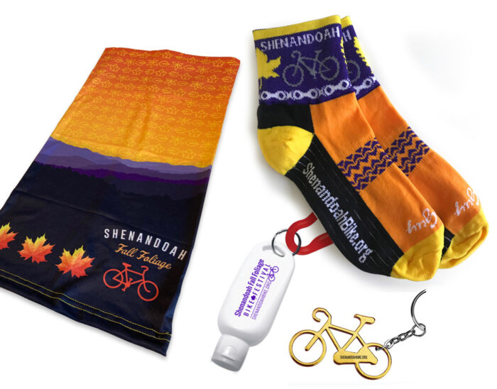 socks, neck gaiter bandana, sunscreen