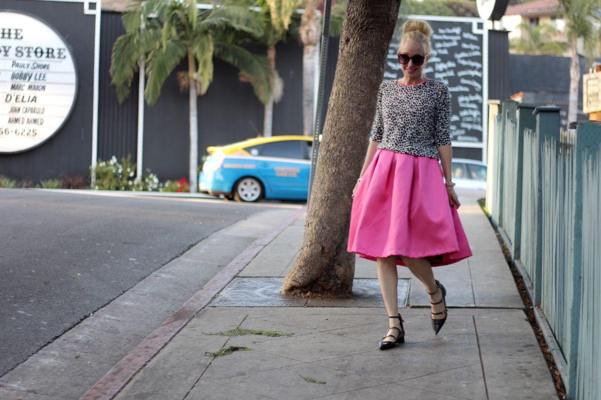 pink valentino dress, valentino midi skirt, pink valentimo skirt, zara strappy flats