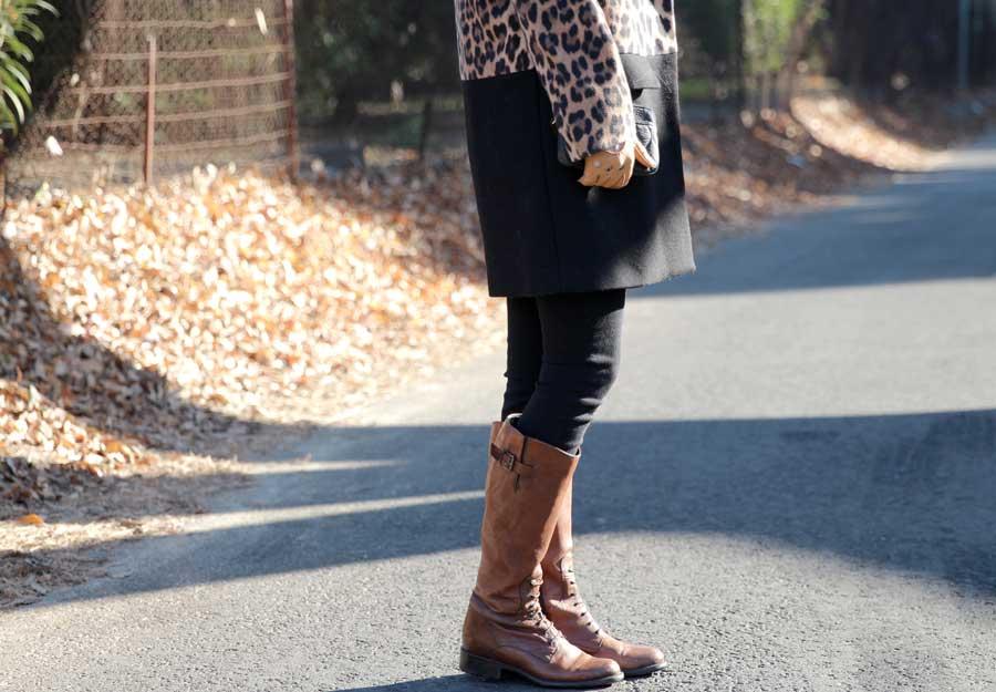 brown clark boots for women