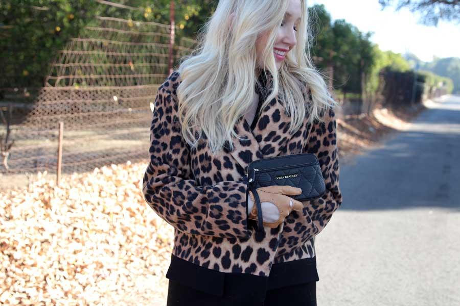 leopard zara coat