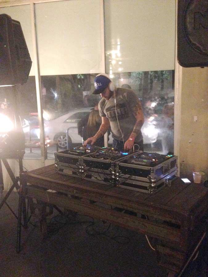 Pioneer DJ booth