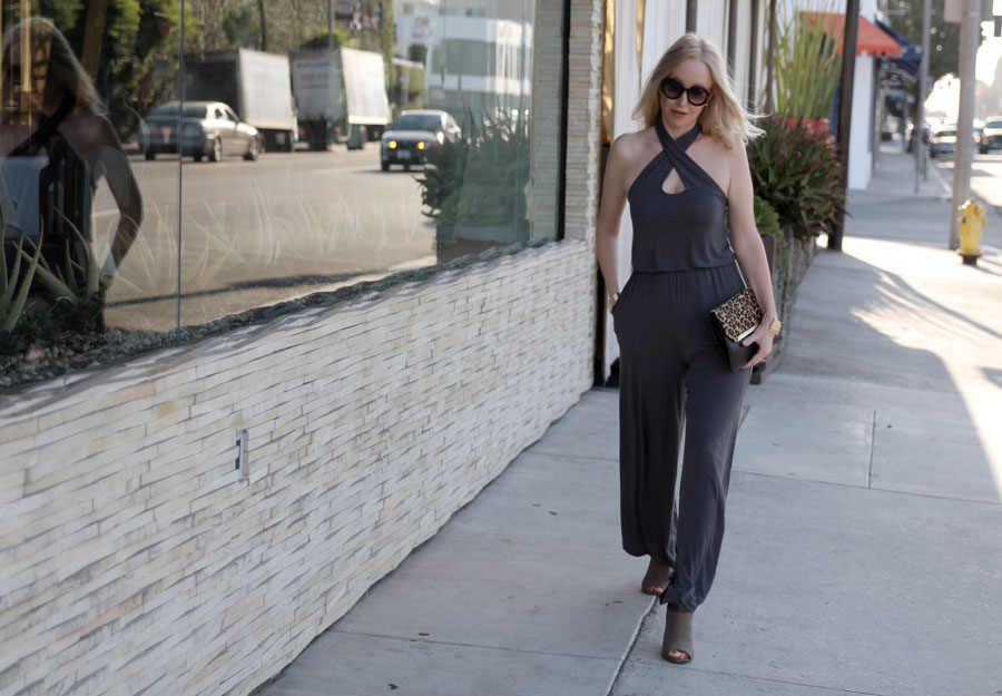 currently crushing, just fab jumpsuit, silpada leopard clutch, just fab booties