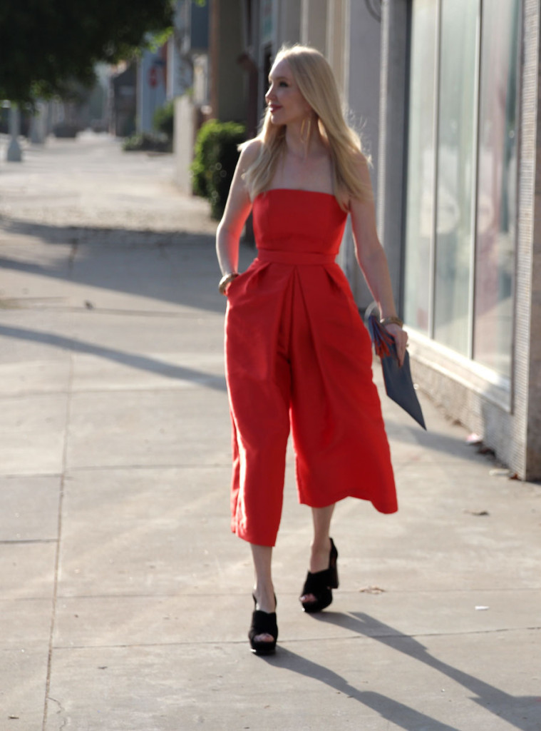 currently crushing, lulus, lulus playsuit, orange midi playsuit, fall fashion NYFW outfits, what to wear to new your fahion week, sole society clutch, H&M suede platform sandals