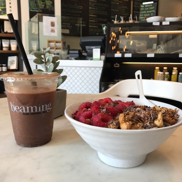 currently crushing, beaming cafe LA, live beaming organic superfood cafe,