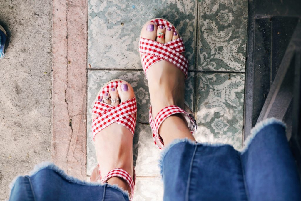 currently crushing, chinese laundry gingham sandals, chinese laundry espadrilles, chinese laundry sale nordstrom