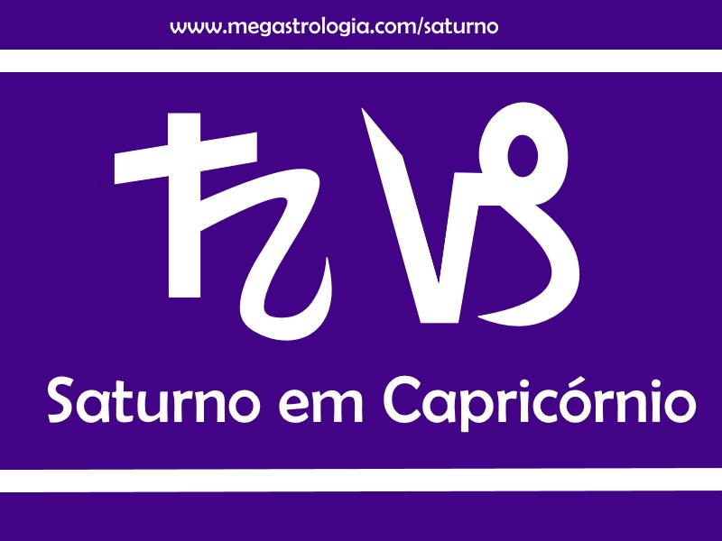 saturno em Capricórnio