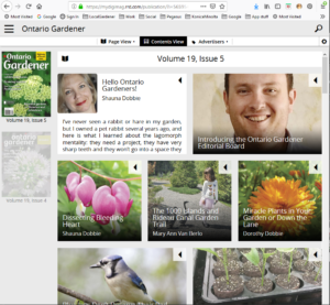 Ontario Gardener magazine app desktop version