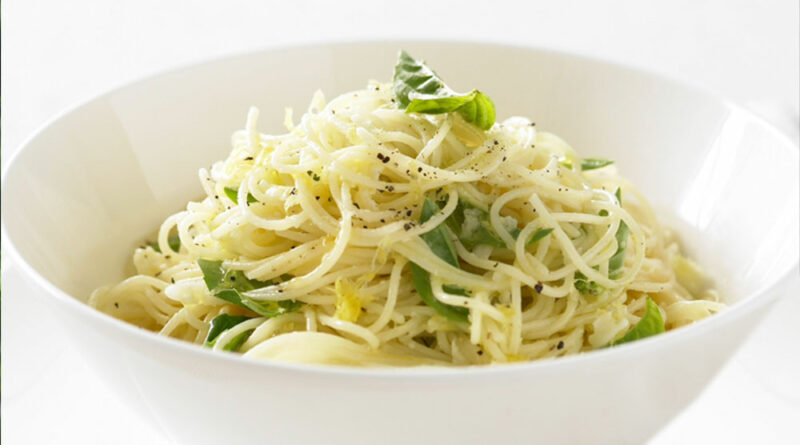 basil lemon garlic pasta recipe