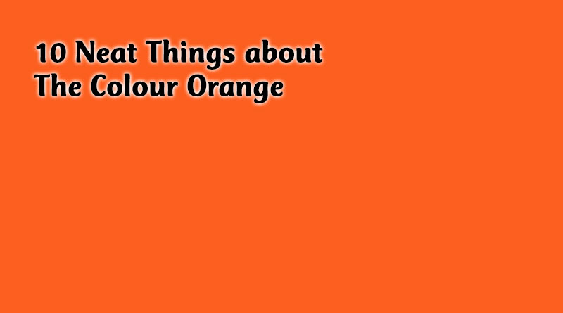 10 Neat Things about the colour orange
