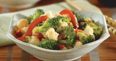 broccoli and cauliflower stir fry