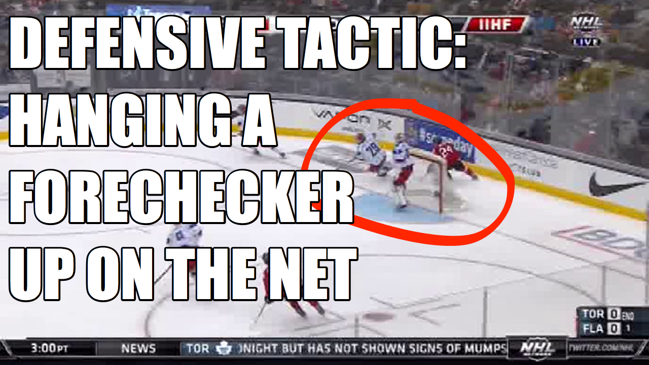 Defensive Tactic: Hanging a Forechecker on the Net