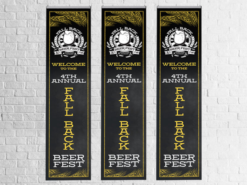 Fall Back Beer Fest Banners