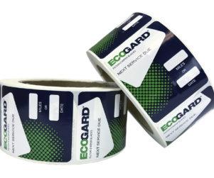ecogard service reminder stickers designed by matt wilson