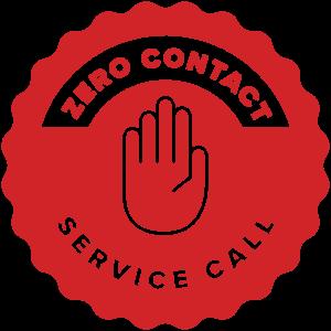 Zero Contact Service Call Badge