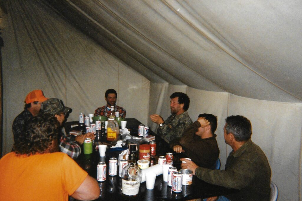 Dinner at camp