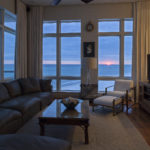 living room - sunset