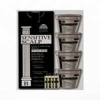 Straight Request Sensitive Scalp Black   4 Pack