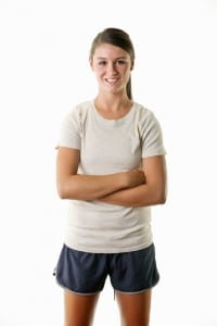 young woman in athletic clothes