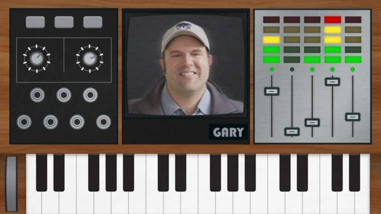 Gary Bacon and a synthesizer
