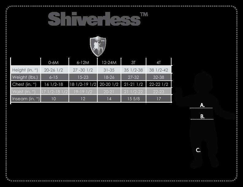 Shiverless size chart