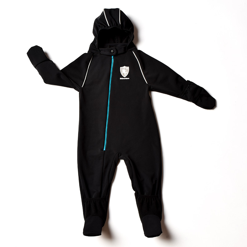 Shiverless Children's Winter Wear Snowsuit Thin Car Seat