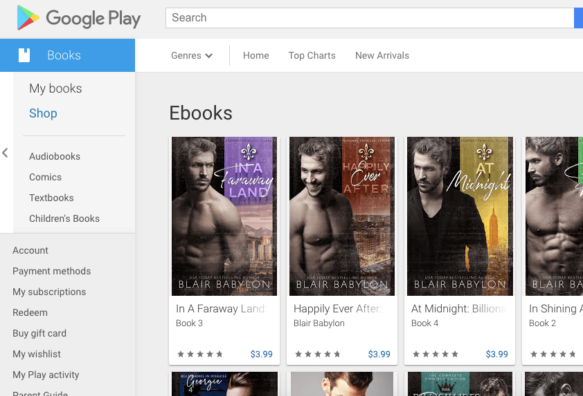 Blair's Books at Google Play
