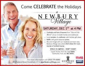 Come to Newbury Village Saturday, December 1st at 4PM - RSVP Today (203) 775-0000