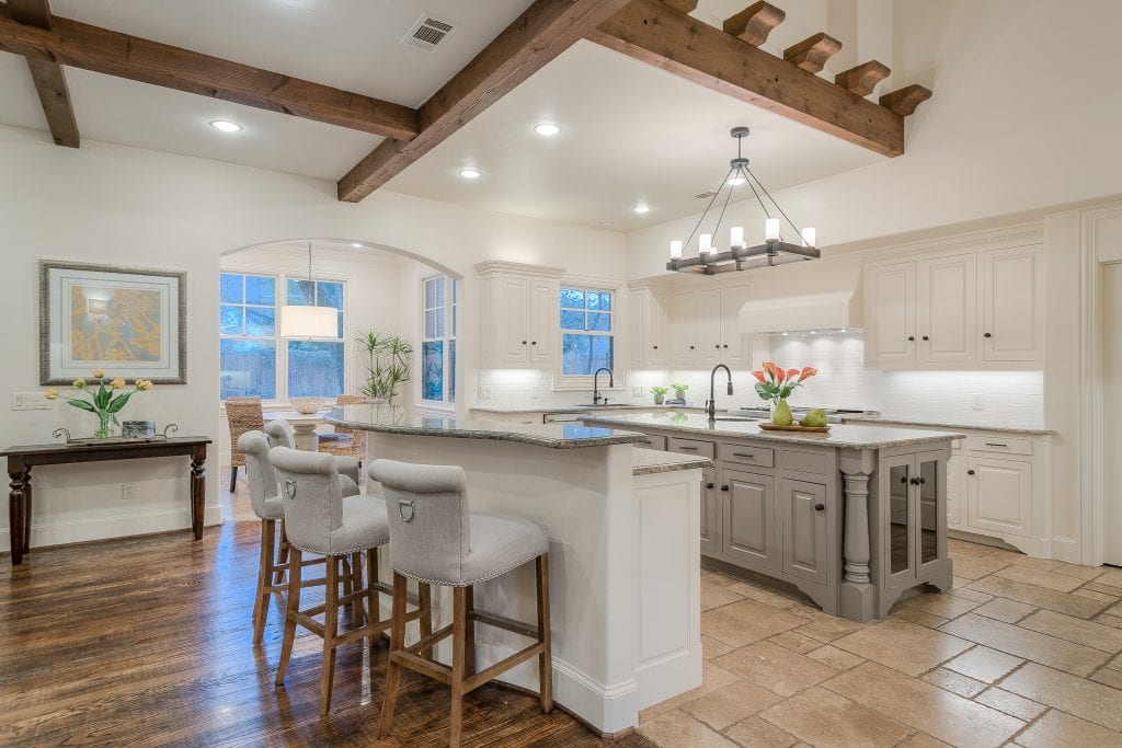 traditional kitchen renovated after
