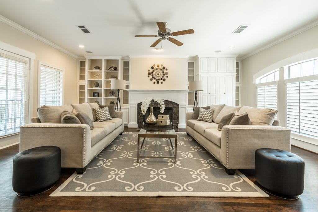 Living room staging uptown dallas