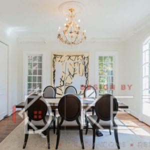 formal dining staging