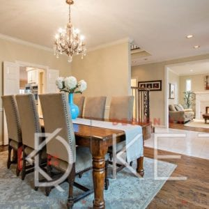 occupied dining room staging