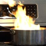 grease fire on stove