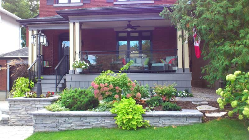 Front yard transformation designed by Rhonda Derue installed by Yards Unlimited Landscaping Inc.