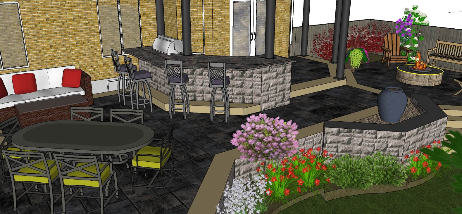 Outdoor Kitchen and Patios
