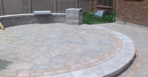 Pauline and Fred Circular Paver Patio