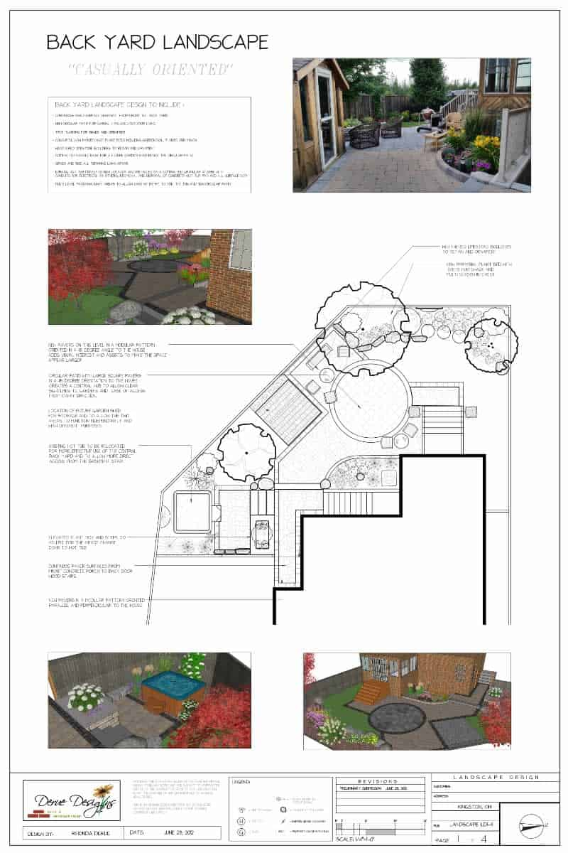 Back yard landscape plan